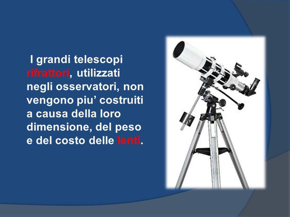 I grandi telescopi rifrattori, utilizzati negli osservatori, non vengono piu costruiti a causa della loro dimensione, del peso e del costo delle lenti