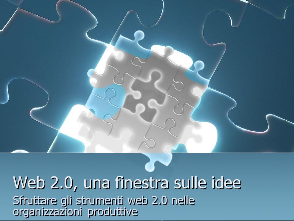 Web 2.0, una finestra sulle idee Sfruttare gli strumenti web 2.0 nelle organizzazioni produttive