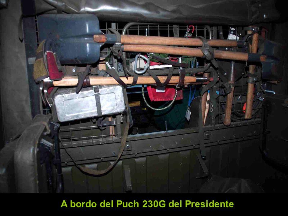 A bordo del Puch 230G del Presidente