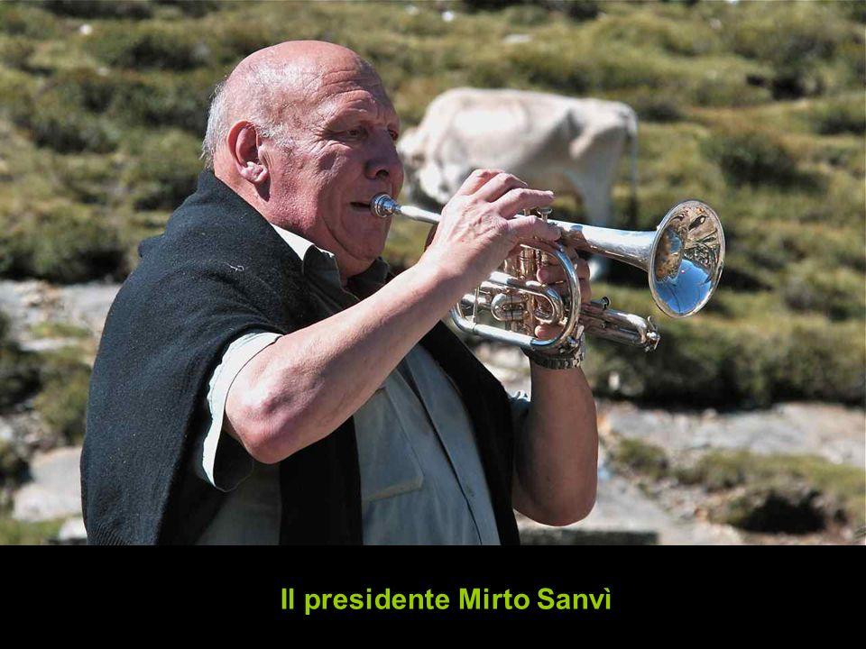 Il presidente Mirto Sanvì