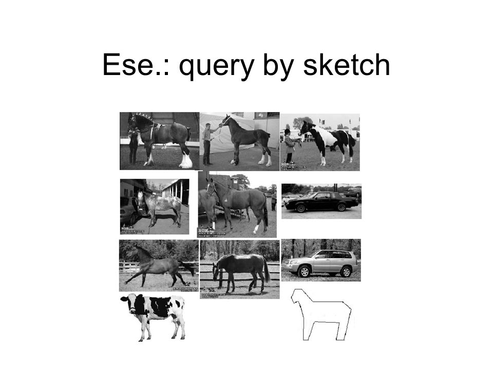 Ese.: query by sketch