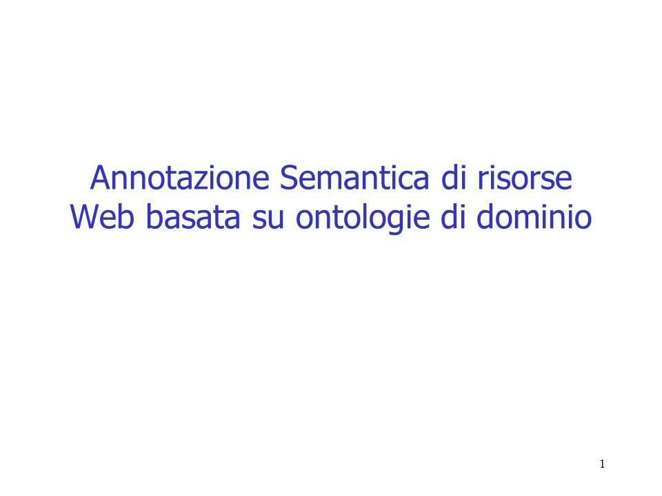 1 Annotazione Semantica di risorse Web basata su ontologie di dominio