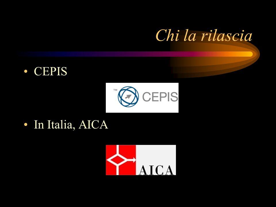 Chi la rilascia CEPIS In Italia, AICA