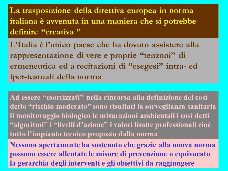 La trasposizione della direttiva europea in norma italiana è avvenuta in una maniera che si potrebbe definire creativa LItalia è lunico paese che ha d