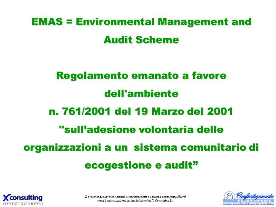 II sistema prevede l adesione delle imprese, su base volontaria, secondo il seguente schema: 1.l adozione di politiche, programmi e sistemi di gestione ambientali; 2.la sistematica, obiettiva e periodica valutazione dei risultati (audit); 3.la comunicazione al pubblico dei sistemi adottati e dei risultati ottenuti attraverso la Dichiarazione Ambientale.