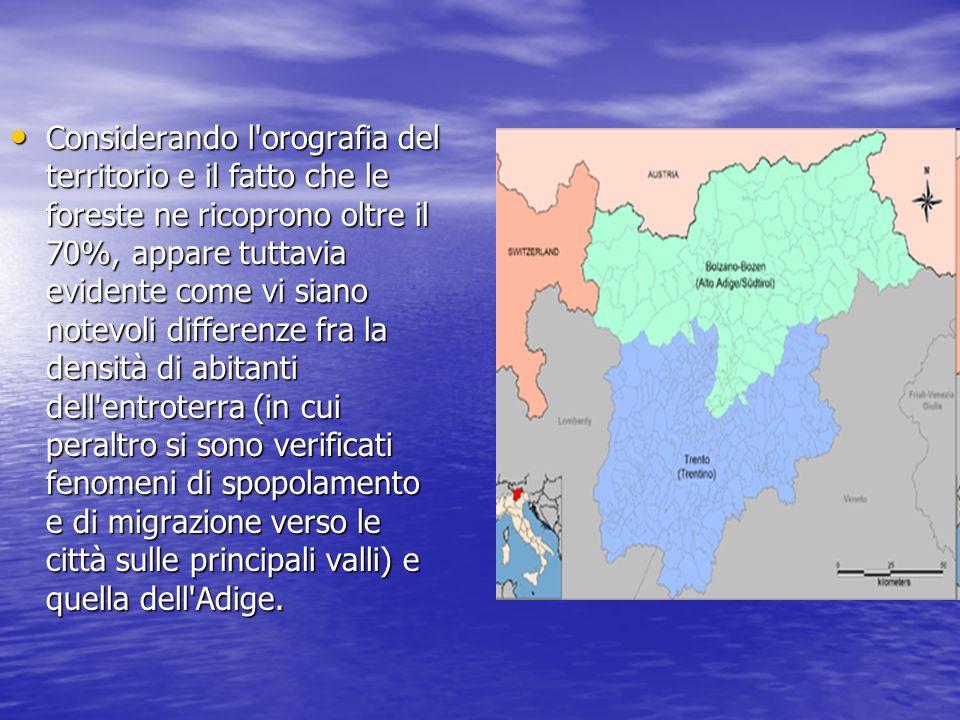Considerando l'orografia del territorio e il fatto che le foreste ne ricoprono oltre il 70%, appare tuttavia evidente come vi siano notevoli differenz