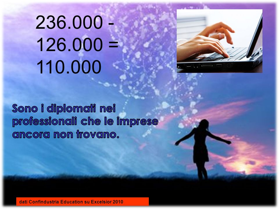 236.000 - 126.000 = 110.000 dati Confindustria Education su Excelsior 2010
