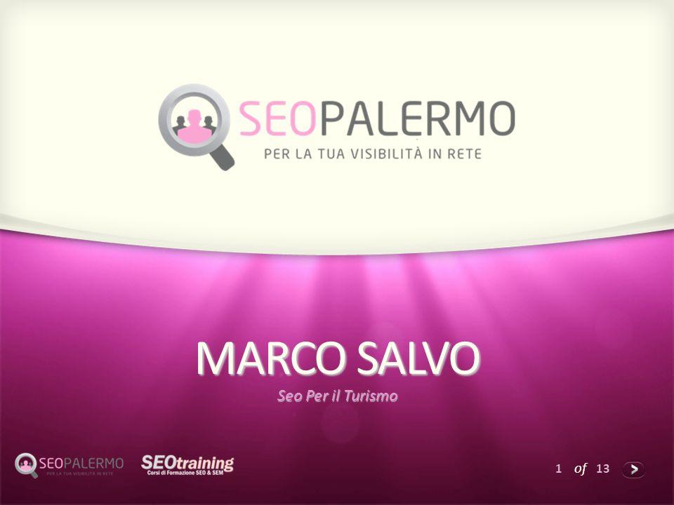 1 of 13 MARCO SALVO Seo Per il Turismo