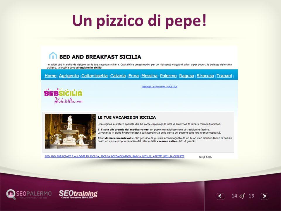14 of 13 Un pizzico di pepe!