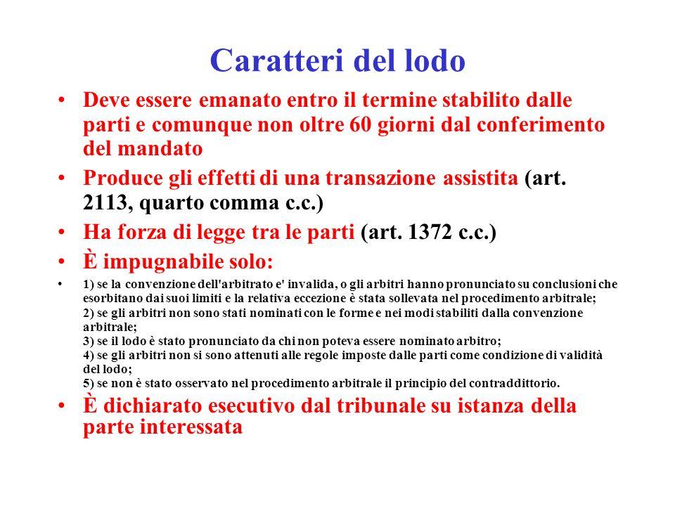 (Clausola compromissoria) Art.808 c.p.c.
