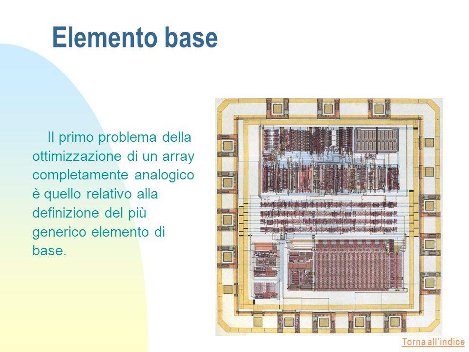 Torna allindice Elemento base Il primo problema della ottimizzazione di un array completamente analogico è quello relativo alla definizione del più generico elemento di base.