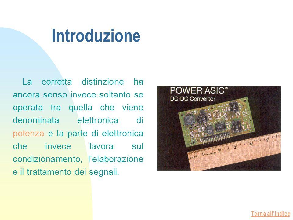 Torna allindice Introduzione La corretta distinzione ha ancora senso invece soltanto se operata tra quella che viene denominata elettronica di potenza