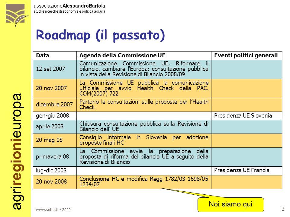 agriregionieuropa associazioneAlessandroBartola studi e ricerche di economia e politica agraria www.sotte.it - 2009 2 Di cosa parleremo ? LHealth Chec