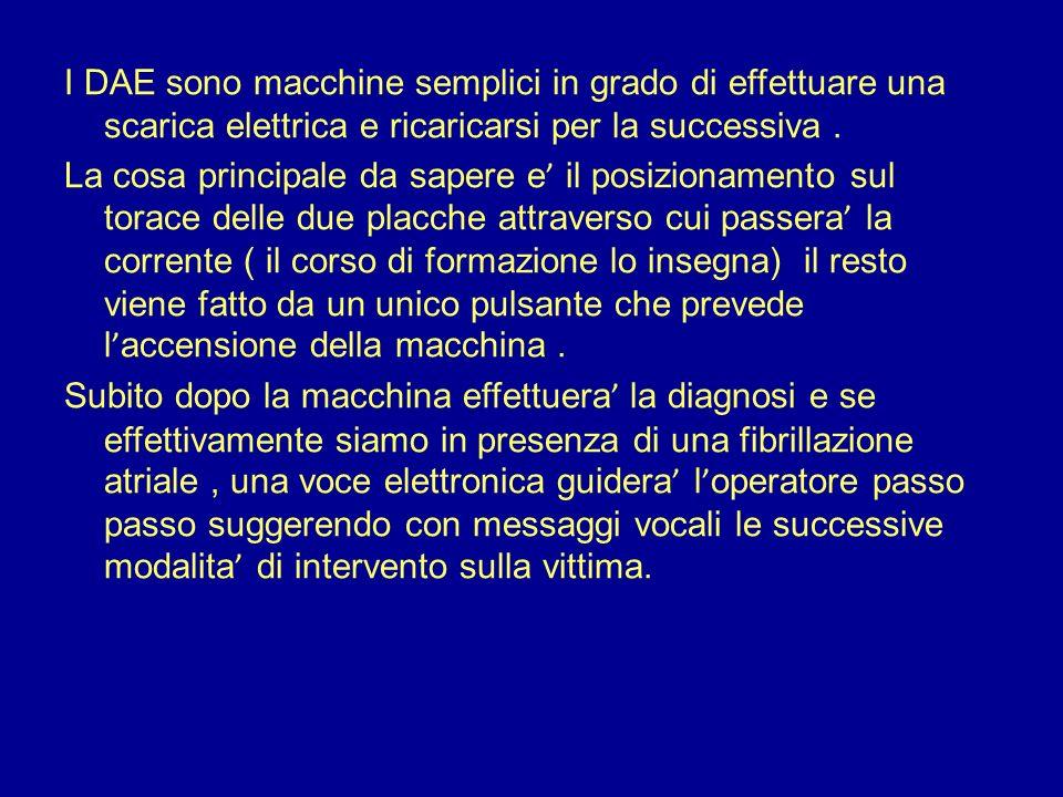I DAE sono macchine semplici in grado di effettuare una scarica elettrica e ricaricarsi per la successiva. La cosa principale da sapere e il posiziona