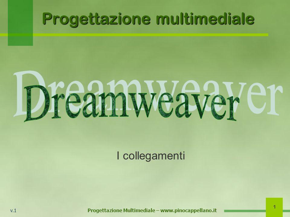 v.1 Progettazione Multimediale – www.pinocappellano.it 1 Progettazione multimediale I collegamenti