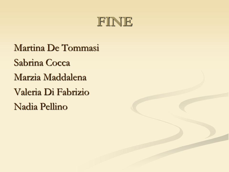 FINE Martina De Tommasi Sabrina Cocca Marzia Maddalena Valeria Di Fabrizio Nadia Pellino