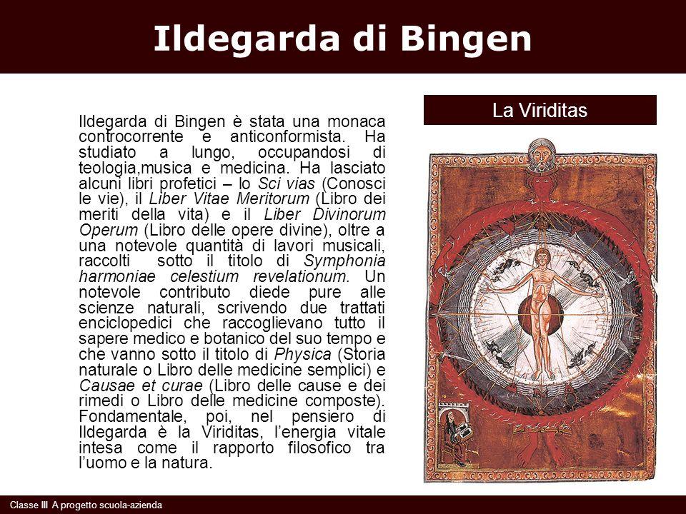 Ildegarda di Bingen Ildegarda di Bingen è stata una monaca controcorrente e anticonformista. Ha studiato a lungo, occupandosi di teologia,musica e med