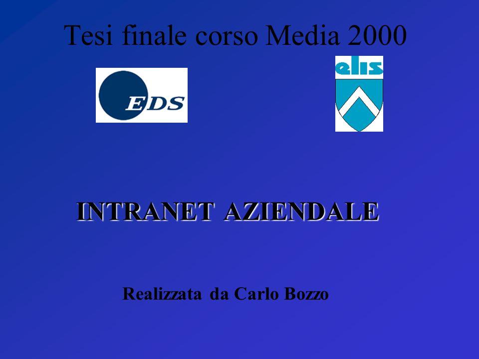 Tesi finale corso Media 2000 INTRANET AZIENDALE Realizzata da Carlo Bozzo
