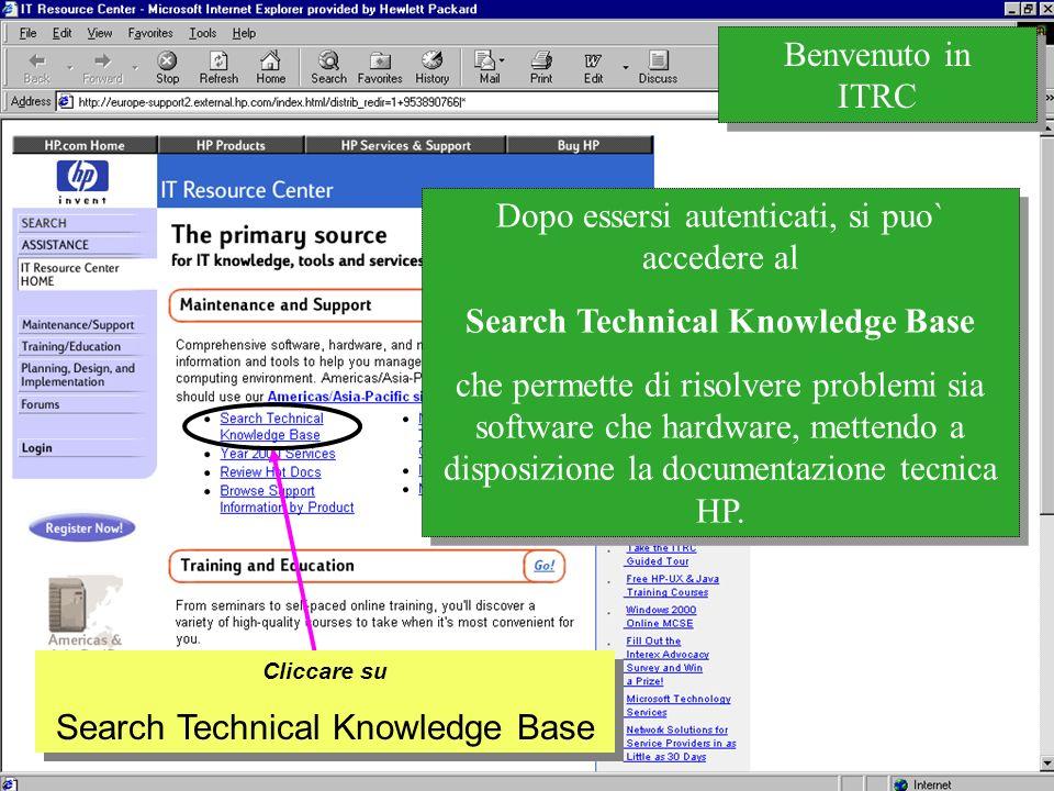 Customer Support Research & Development La documentazione accessibile e` suddivisa in diverse categorie...
