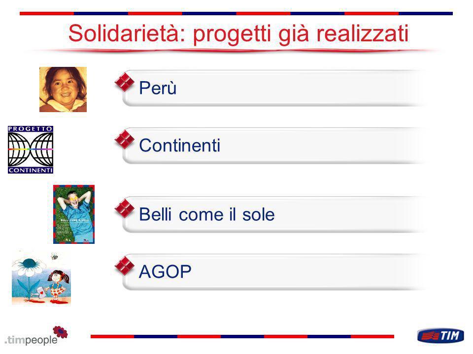 Solidarietà: progetti già realizzati AGOPPerùContinentiBelli come il sole