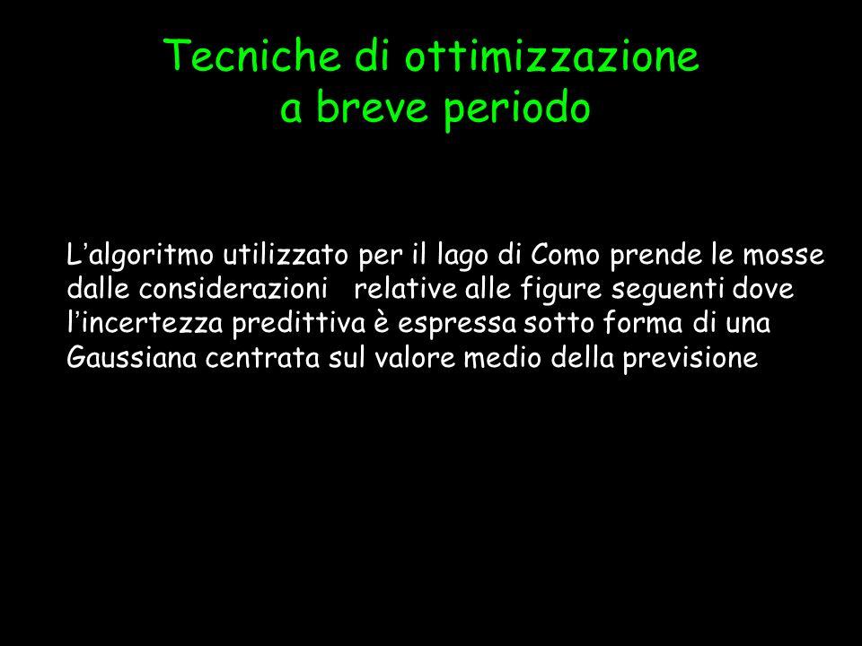 Lalgoritmo utilizzato per il lago di Como prende le mosse dalle considerazioni relative alle figure seguenti dove lincertezza predittiva è espressa so