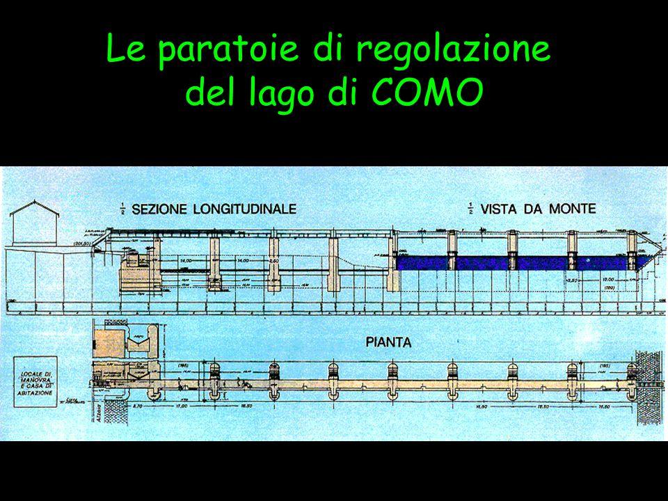La regolazione del Lago di Como Escursus storico Fino al 1997 la regolazione è stata effettuata secondo il concetto dell acqua nuova, definita come: Quella maggior portata rispetto alla portata naturale di deflusso dal lago che può erogare in virtù dalla regolazione, nei limiti della portata normalmente utilizzata dalle utenze consorziate.