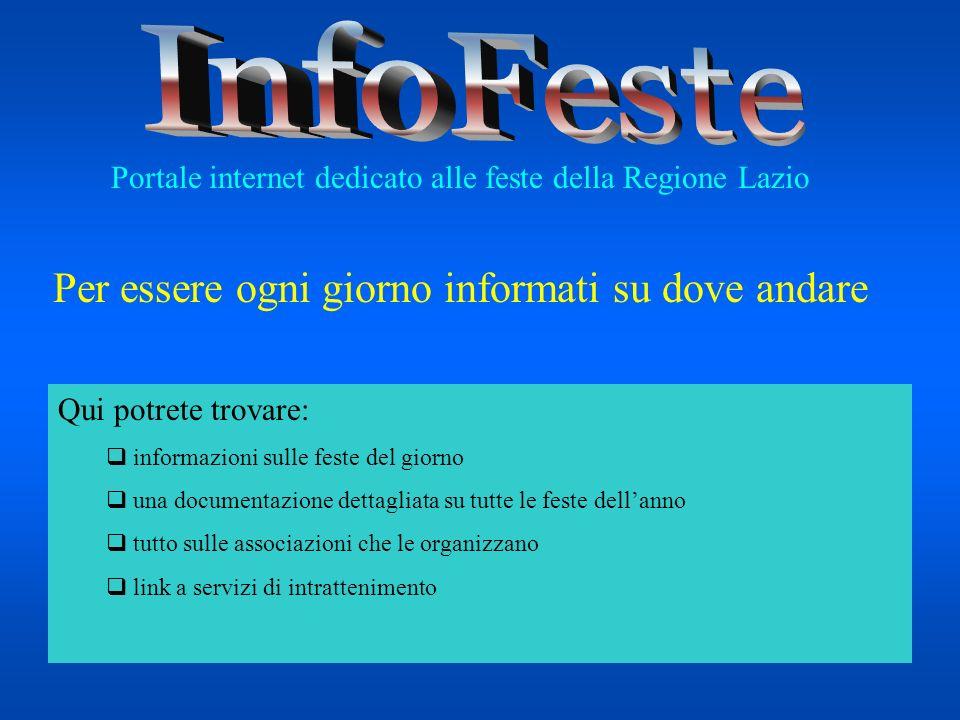Qui potrete trovare: informazioni sulle feste del giorno una documentazione dettagliata su tutte le feste dellanno tutto sulle associazioni che le org