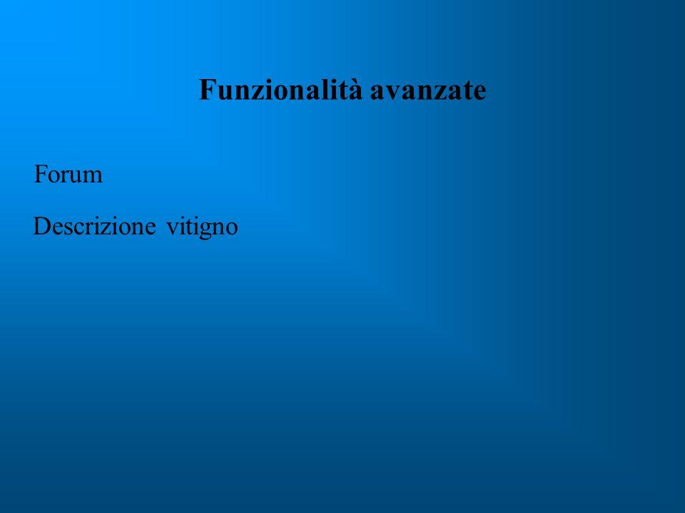 Funzionalità avanzate Forum Descrizione vitigno