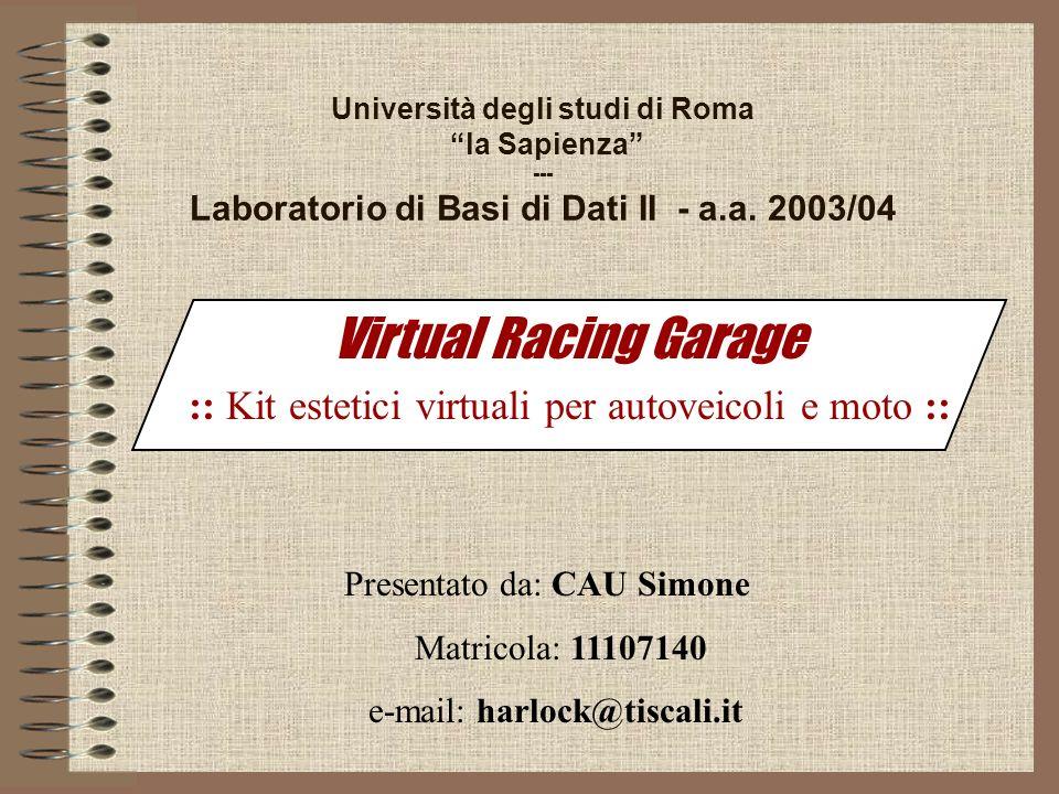 Università degli studi di Roma la Sapienza --- Laboratorio di Basi di Dati II - a.a.