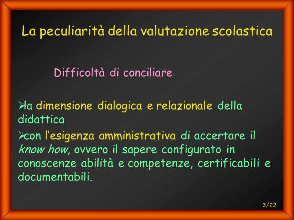 4/22 La peculiarità della valutazione scolastica Come individuare credibilmente il Difetto di apprendimento come oggettiva inadeguatezza del soggetto.