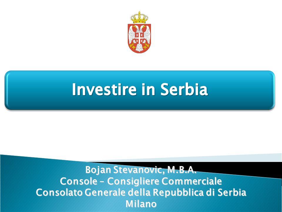 Bojan Stevanovic, M.B.A. Console – Consigliere Commerciale Consolato Generale della Repubblica di Serbia Milano