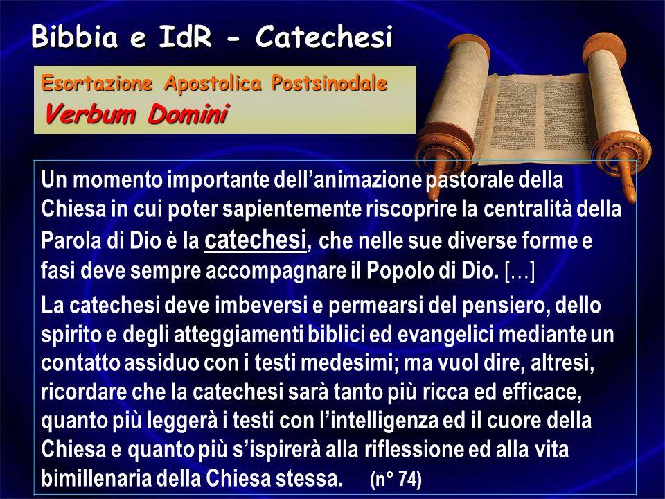 Un momento importante dellanimazione pastorale della Chiesa in cui poter sapientemente riscoprire la centralità della Parola di Dio è la catechesi, ch