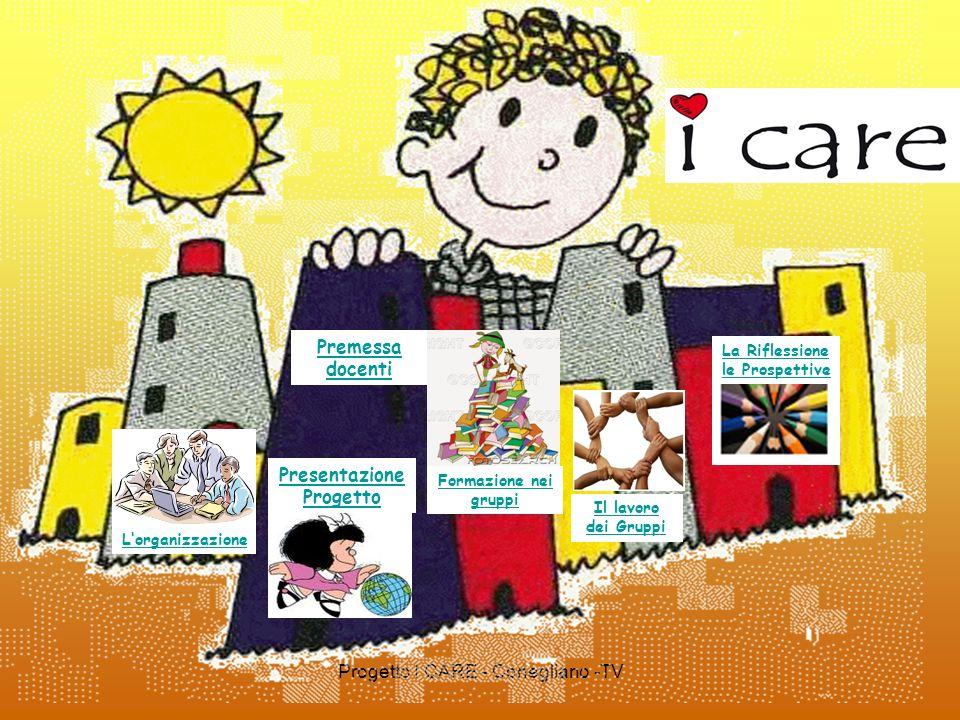 Progetto I CARE - Conegliano -TV Presentazione Progetto La Riflessione le Prospettive Il lavoro dei Gruppi Lorganizzazione Formazione nei gruppi Preme
