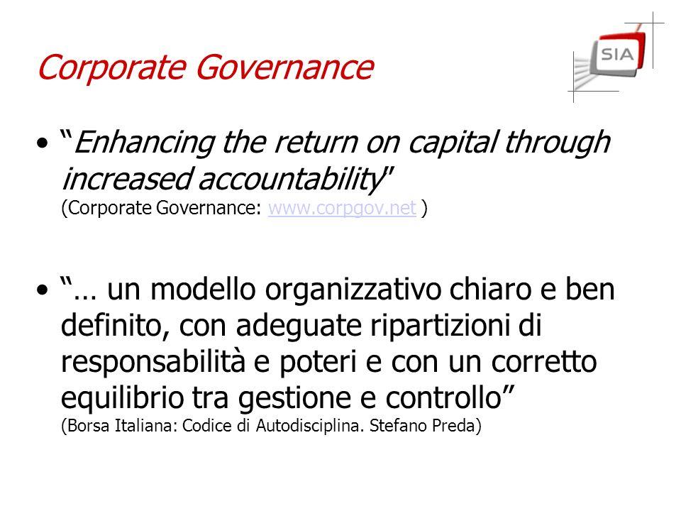 Responsabilità e controlli Responsabilità dellazienda Responsabilità degli amministratori Organismi di Vigilanza Controlli Interni Comitati di Controllo