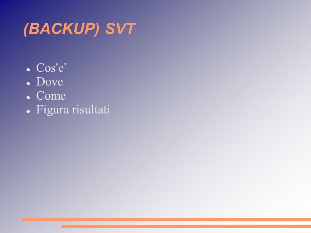 (BACKUP) SVT Cos e` Dove Come Figura risultati