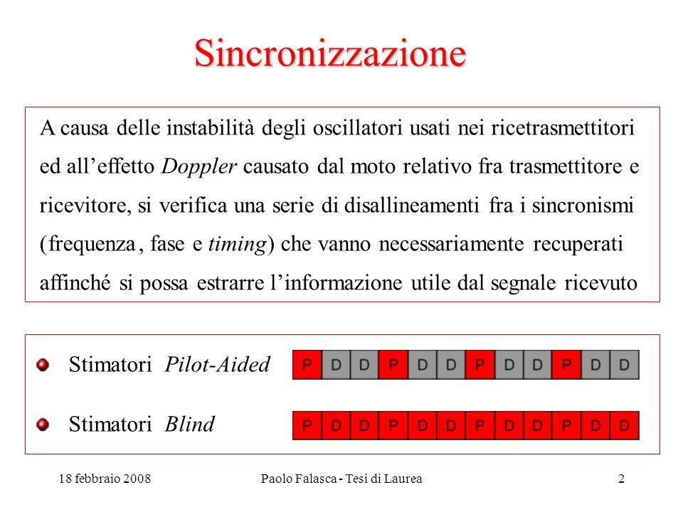 18 febbraio 2008Paolo Falasca - Tesi di Laurea3 Algoritmo misto Pilot Aided - Blind
