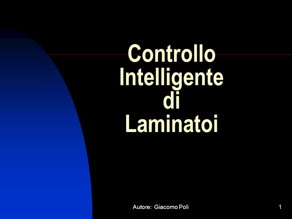 Autore: Giacomo Poli1 Controllo Intelligente di Laminatoi