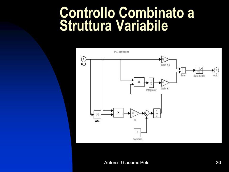 Autore: Giacomo Poli20 Controllo Combinato a Struttura Variabile