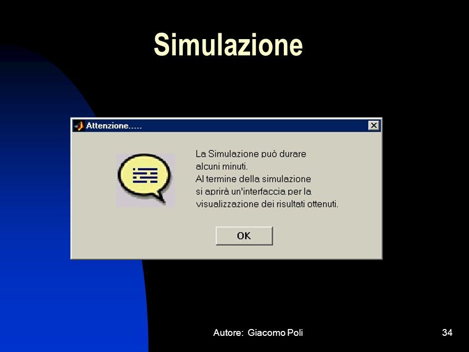 Autore: Giacomo Poli34 Simulazione
