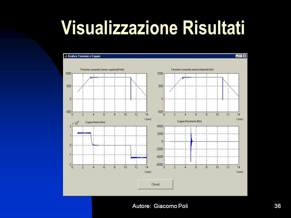 Autore: Giacomo Poli36 Visualizzazione Risultati