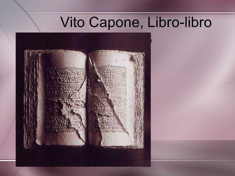 Vito Capone, Libro-libro 1996