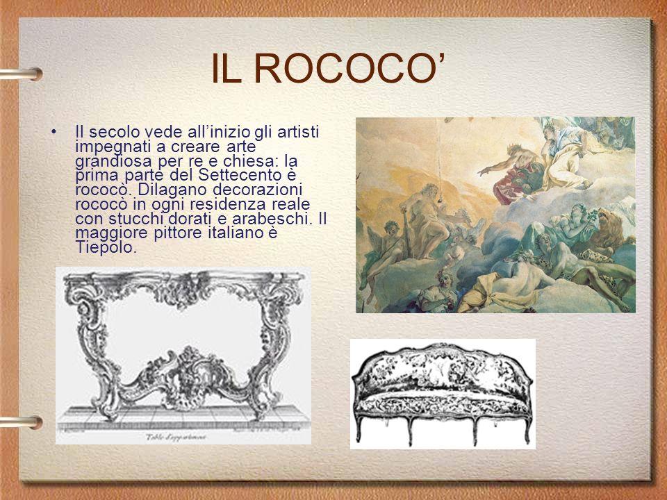 Il Sarcofago Ludovisi con scena di battaglia tra Romani e Germani, 250 d.C Il secolo vede allinizio gli artisti impegnati a creare arte grandiosa per re e chiesa: la prima parte del Settecento è rococò.
