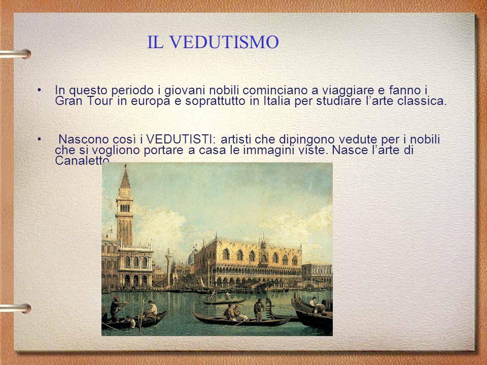 Il Sarcofago Ludovisi con scena di battaglia tra Romani e Germani, 250 d.C In questo periodo i giovani nobili cominciano a viaggiare e fanno i Gran Tour in europa e soprattutto in Italia per studiare larte classica.