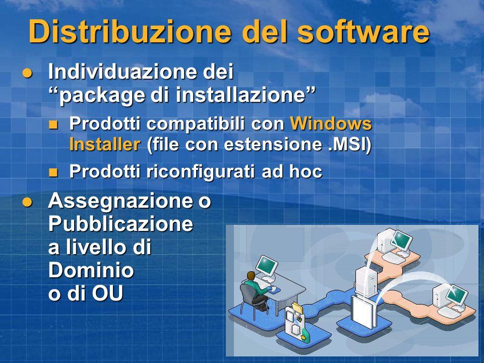 Distribuzione del software Individuazione dei package di installazione Individuazione dei package di installazione Prodotti compatibili con Windows In