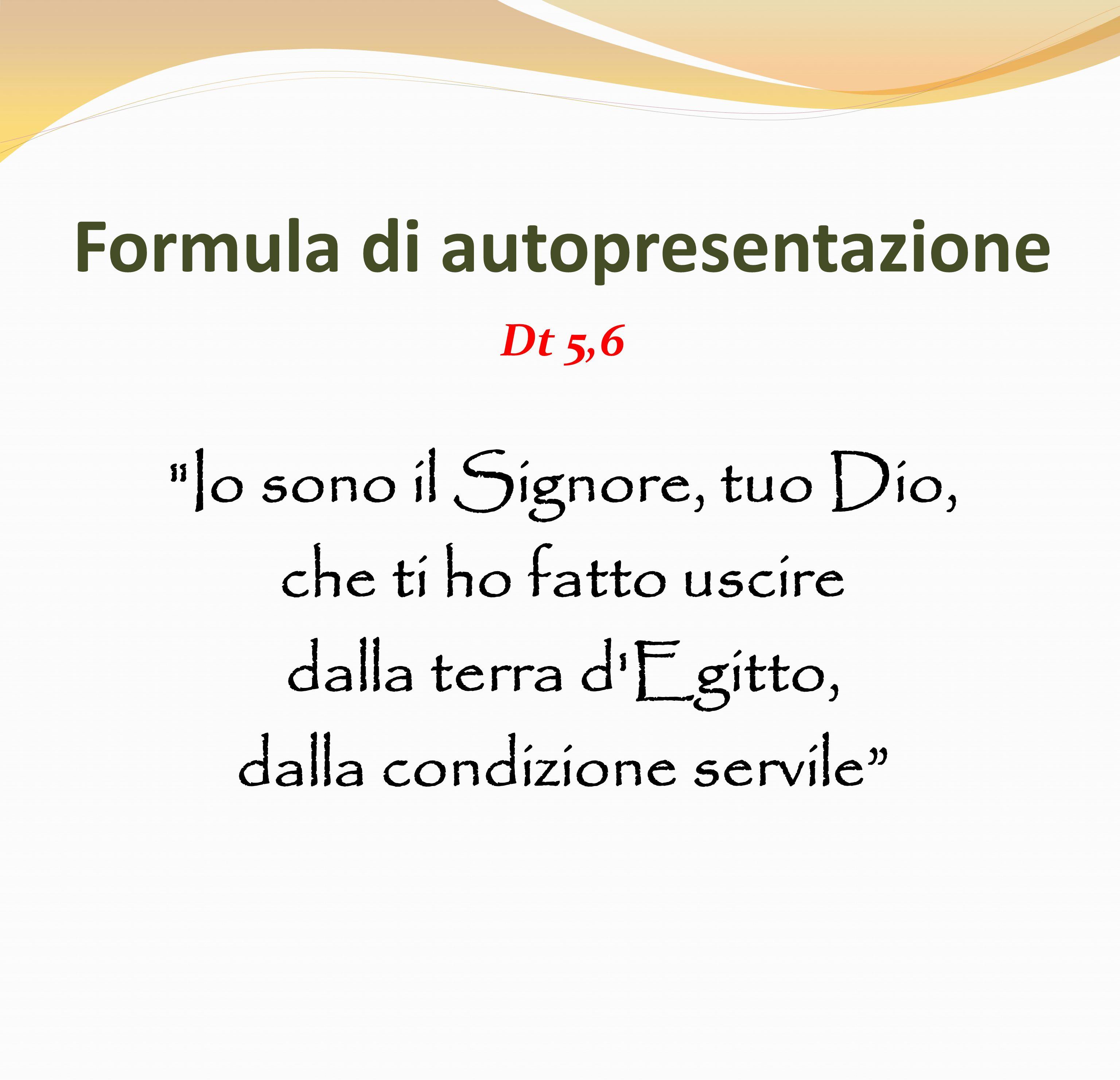 Formula di autopresentazione Dt 5,6