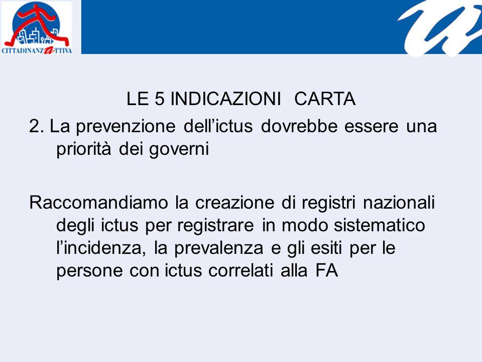 LE 5 INDICAZIONI CARTA 2.