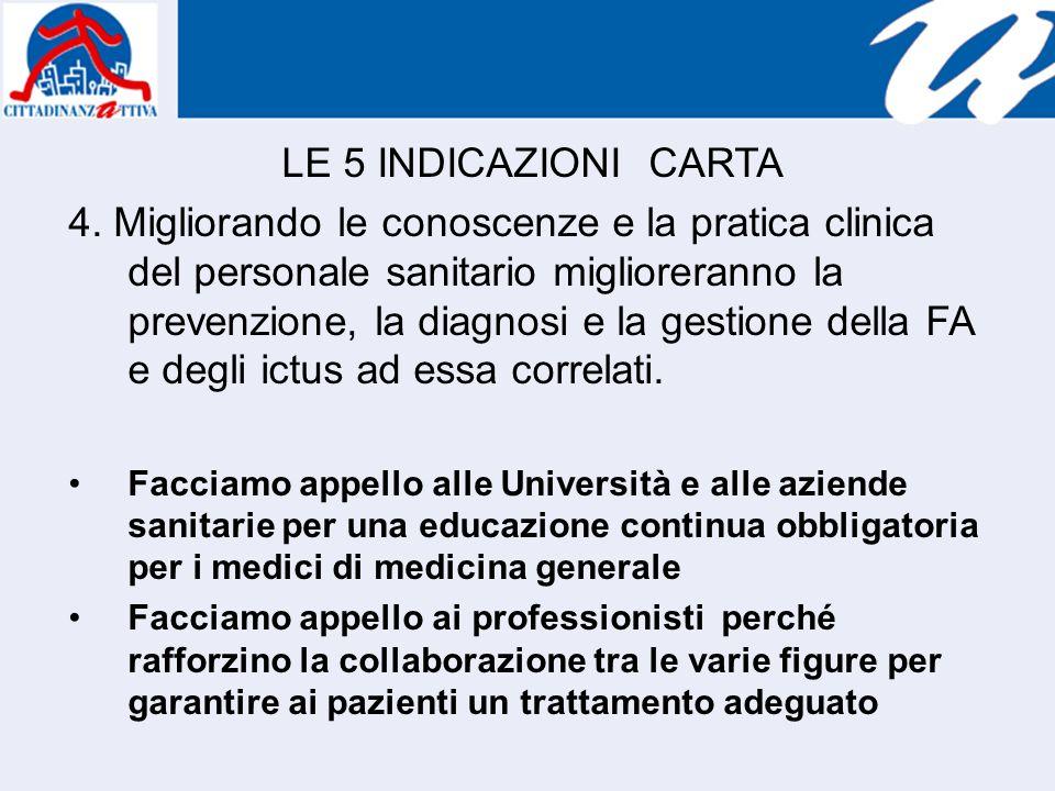 LE 5 INDICAZIONI CARTA 4.