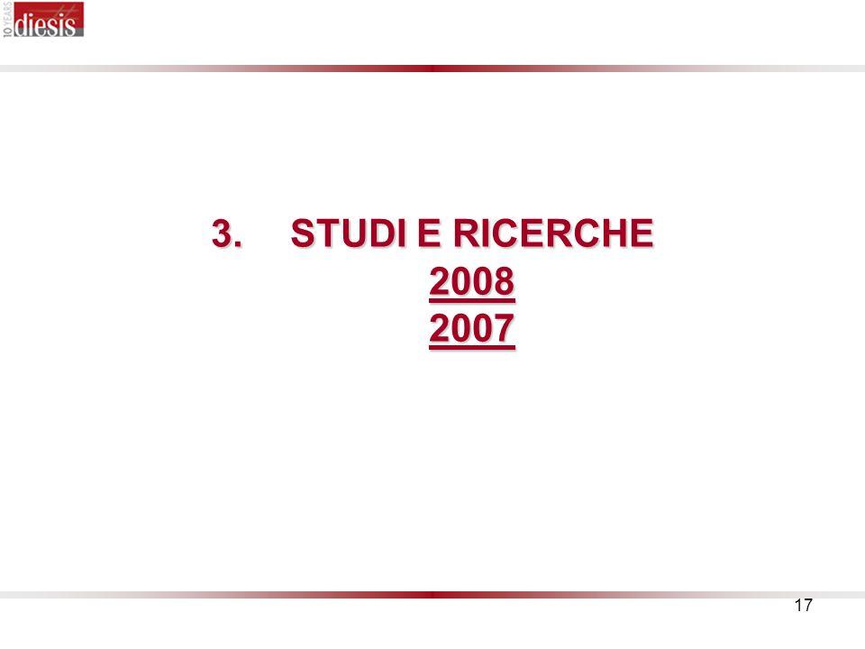 17 3.STUDI E RICERCHE 2008 2007
