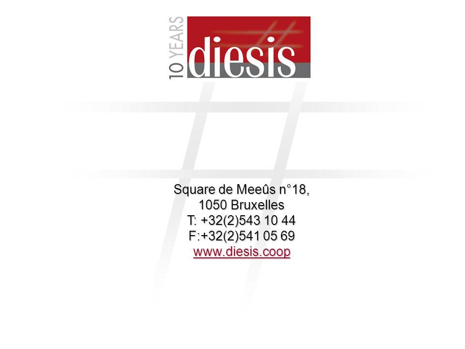 24 Square de Meeûs n°18, 1050 Bruxelles T: +32(2)543 10 44 F:+32(2)541 05 69 www.diesis.coop