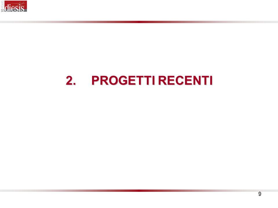10 2.PROGETTI RECENTI 2.PROGETTI RECENTI WISE (2007-2009) DIESIS sta coordinando il progetto Progress condotto dal CGM.